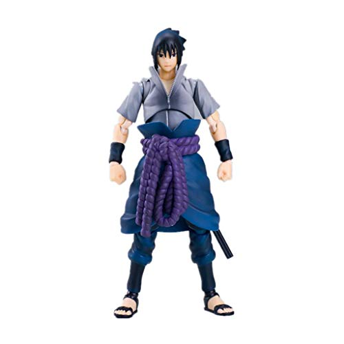 Naruto Sasuke puede ser realista y realista estatua de muñeca adorno de 15 cm de anima