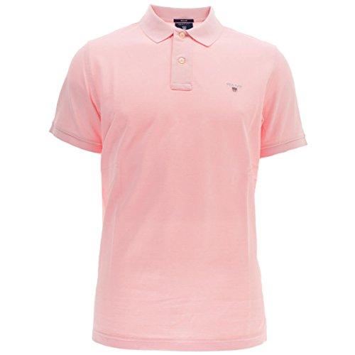 GANT Mens Short-Sleeved Pique Polo Camisa, Rose Californien, XL para Hombre