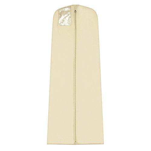 Simpson & Ruxton Personalisierbare Brautkleiderhülle 182,9 cm wasserdicht, cremefarben, 24in (60cm) x 72in(182cm) with 10