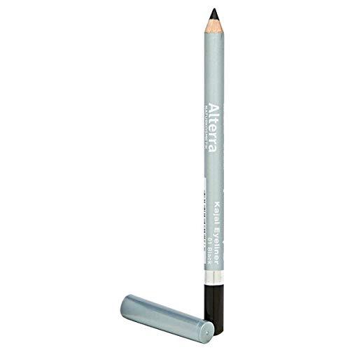Alterra Kajal Eyeliner 1 Stück Farbe 01: Black, ohne synthetische Konservierungsstoffe, verleiht dem Auge einen natürlich betonten Ausdruck, vegan, zertifizierte Naturkosmetik