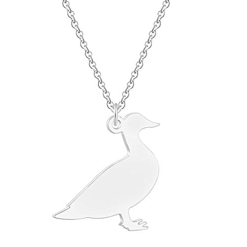 Duck Necklace Animal Charm Pendant Personalized Pet Duck Goose Jewelry Farm Animal Long Necklaces Funny Gift
