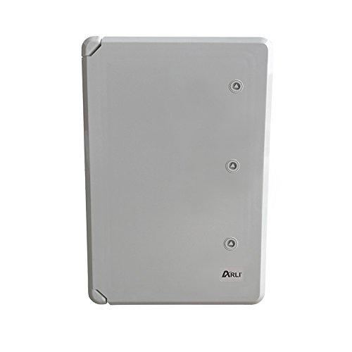 Schaltschrank IP65 Industriegehäuse 500 x 700 x 250 mm verzinkter Montageplatte Verriegelung Tür mit umlaufender Dichtung Gehäuse Leergehäuse ABS Kunststoff leer Schrank ARLI 50 x 70 x 25 cm
