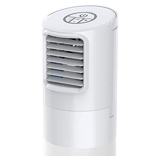 Mobile Klimageräte, Mini Persönliche Klimaanlage, 4 in 1 Luftkühler Luftbefeuchtung Ventilator Nachtlicht, 2 Timer 3 Leistungsstufen 7 Verschiedene Farben, Ideal für Arbeitsplatz und Daheim