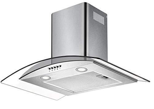 CIARRA Cappa Aspirante, 60 cm, 550 m³/h, Controllo Pulsanti, Filtro per CBCF004, Luce LED, Vetro, Cappe Camino Cucina