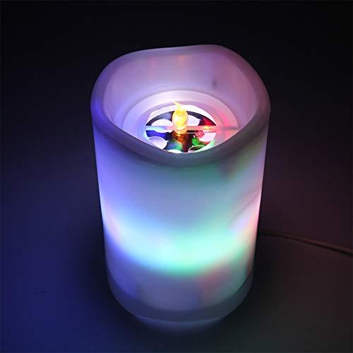 PICKME LED De Luz De Las Velas De Proyección con 6 Horas Temporizador Eléctrico Sin Llama Velas con Reloj Programador A Distancia 2 En 1 USB De Regalo A Casa De La Decoración del Partido
