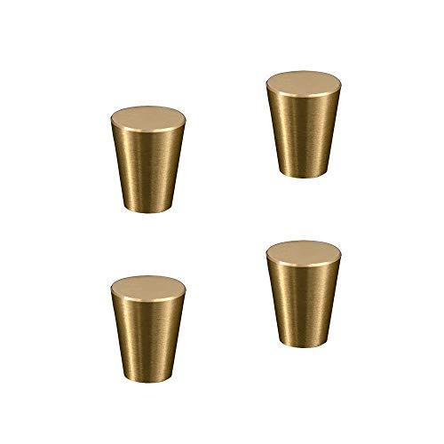 RZDEAL Knauf für Möbel, Schränke, Schubläden, Boxen, Türgriffe, strapazierfähig, 4 Stück, gold