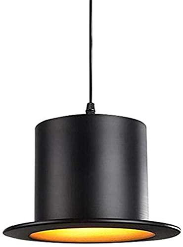HUIHUIGE Creative Bowler Hat Chandelier Shade Bowler Hats Techo Colgantes Luces Lámparas Láth Bar Cocina Colgando Techo Café Café Sala de Estar Restaurante Tienda Decoración-Superficie Plana Gorgeous