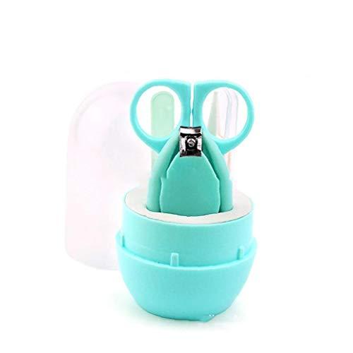 Kit de manicura del cuidado del bebé con el caso de uñas del bebé Clippers tijera Archivo pinzas para niño recién nacido del niño verde los productos del cuidado del bebé