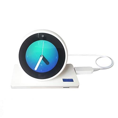MERES USB Ladungskabel Anschließen für Echo Spot/Echo Dot 3 Gen/Echo Show 5 - USB 5V zu DC 12V Netzkabel Machen Die Spot Portable (weiß für Echo Spot)