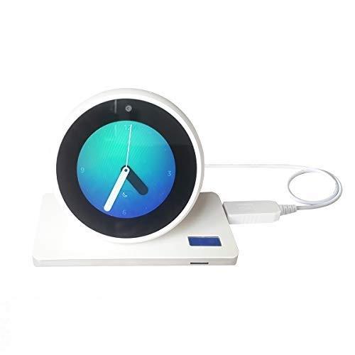 Cable USB Meres para Amazon Echo Spot/Echo Dot 3 Generation/Echo Show 5, USB 5V a DC Cable de alimentación de 12 V para Amazon Echo Spot, Hace Que el Echo Spot Portable (Blanco Solo para Echo Spot)