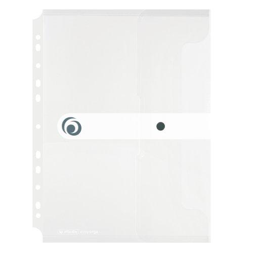 Herlitz 11292935 Dokumententasche A4 zum Abheften, PP-Folie, 6-er Packung, transparent