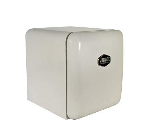 Vintage Industries ~ Mini Retro-Kühlschrank Miami 2018 in creme beige | Mini-Bar 50er Jahre Look | Größe: 50cm & 48l Volumen | höhenverstellbarer Tisch-Kühlschrank mit manueller Temperatureinstellung