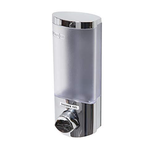 COMPACTOR Seifenspender für an die Wand, 360ml, Kunststoff mit verchromtem Stahl-Finish RAN6014