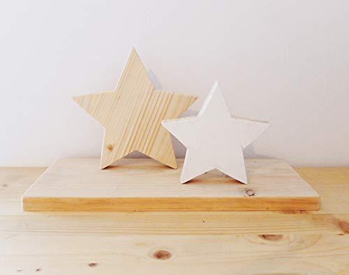 Estrellitas - centro de mesa en madera decorativo para navidad