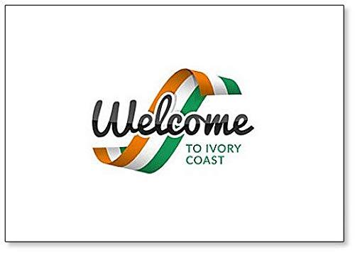 Kühlschrankmagnet, Motiv: Welcome to Ivor Coast with Flag