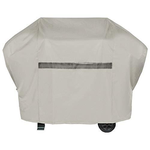 i COVER Grillabdeckung 600D Heavy Duty Water Proof Terrasse Outdoor Khaki Canvas BBQ Smoker Grill Abdeckung für Weber Char-Broil Brinkmann Holland JennAir 82 inch New Khaki