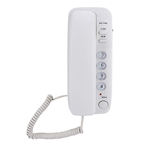 Wendry Teléfono Fijo,Teléfono de Línea Fija de Montaje en Pared, Teléfono Sobremesa...