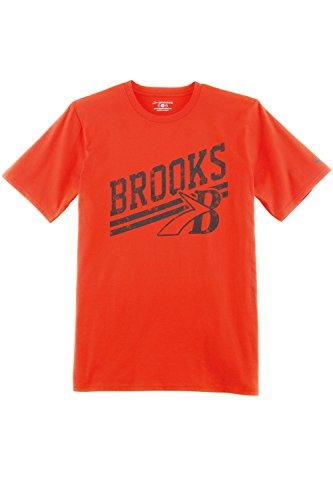 Brooks Herren T-Shirt Laufshirt Freizeitshirt Kurzarm Heritage Orange - 210863-814 (S)