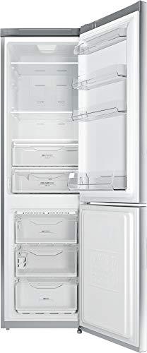 Privileg PRBN 396S A+++ Kühl-/Gefrier-Kombination /A+++/ NoFrost / Cool Care Zone / 368L Gesamtnutzinhalt/ 104L Gefrieren/ 187 kWh Strom/Jahr /LED-Licht / silber