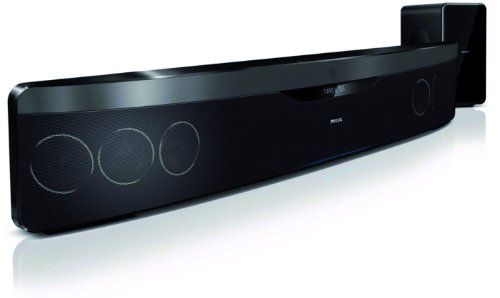Philips HTS7140/12 3D Blu-ray Soundbar (3D, USB 2.0, Ambisound, HDMI 1.4 ARC, 500 W, DivX-Ultra, MKV) schwarz