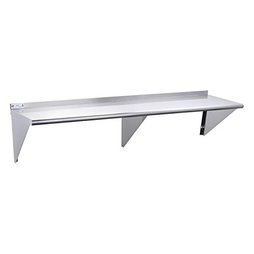 "18/"" x 72/"" Commercial Stainless Steel Restaurant Kitchen Shelf Wall Heavy-duty"