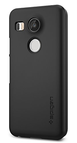 Nexus 5X Case, Spigen [Thin Fit] Exact-Fit [Black] Premium Matte Finish Hard Case for Nexus 5X (2015) - Black (SGP11756)