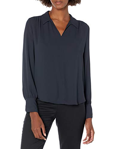 Brand Lark /& Ro Womens Long Sleeve Gathered Blouse