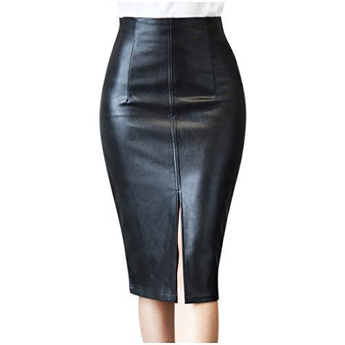 Falda hip rock, falda de mujer, falda básica, falda sexy, falda ajustada, para otoño e invierno, de piel, ajustada, estilo hip rock