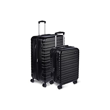 AmazonBasics Hardside Spinner Luggage - 2 Piece Set (20 , 28 ), Black