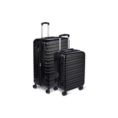 AmazonBasics Hardside Spinner Suitcase Luggage with Wheels