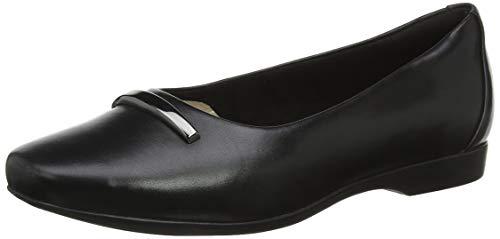 Clarks Damen Un Darcey Way Slipper, Schwarz (Black Leather Black Leather), 40 EU