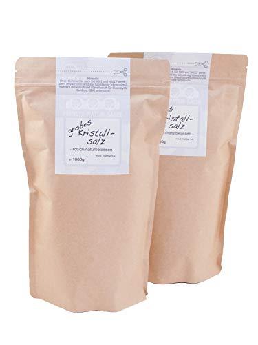 direct&friendly Kristallsalz aus Pakistan bekannt als Himalaya Salz grob im wiederverschließbaren Nachfüllpack (2 kg)