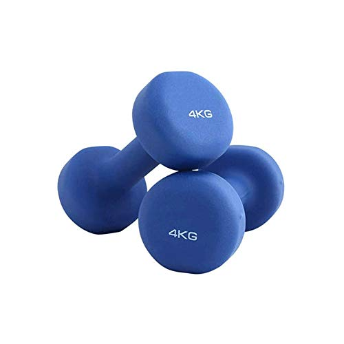 Sdesign Dumbbell Lady Anaerobic Training Two Pcs,Hand Weights Gym Rehabilitation Strength for Use in Yoga/Pilates/Aerobics Neoprene Coated 2/4KG (Color : Blue)