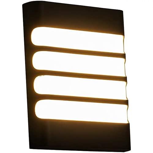 Al aire libre luces de pared impermeable montado en la pared acrílico luz 12w lámpara interior dormitorio decoración hogar iluminación techo Ip54