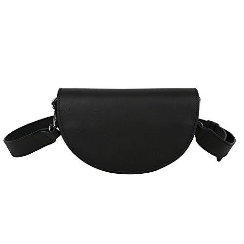 SAN-HAI - Bolso bandolera para mujer (impermeable, correa ancha para el hombro), color negro