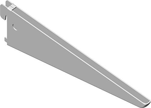 Element System 18133-00031 U-Träger Regalträger 2-reihig / 2 Stück / 5 Abmessungen / 3 Farben/L = 22 cm/weiß/für Regalsystem/Wandschiene