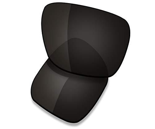 Saucer Lentes de repuesto para gafas de sol Oakley Holbrook XL OO9417, (High Defense - Carbon Black Polarized), Talla única