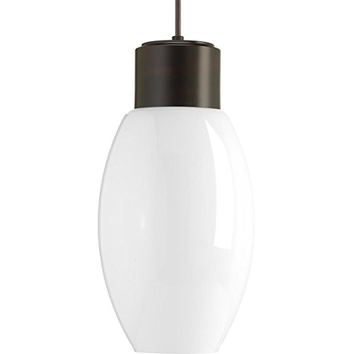 Progress Lighting P500066-020-30 Neat LED One-Light Pendant, Brown