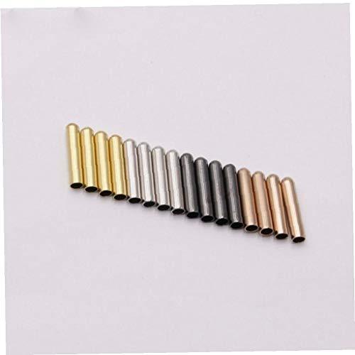 4.3 * 22 mm 4pcs Hombres de Las Mujeres de Zapatos de Encaje Consejos para la sustitución de la Cabeza Shoestrings Bala Herretes Accesorios Ronda de Bricolaje Cordones de Oro