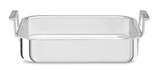KitchenAid Bräter, Edelstahl, Silber, 37 cm