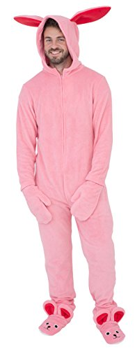 Briefly Stated A Christmas Story Bunny Union Suit Pajama Costume (Adult XX-Large) Pink