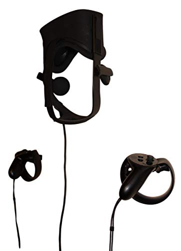 3d Lasers Lab Oculus Rift Sensor CV1 kompatibles Headset und Controller-Montageset, beschädigungsfrei & Schraubenmontage erhältlich, Sensorhalterungspaket erhältlich Slate (Damage-Free) Kit schwarz