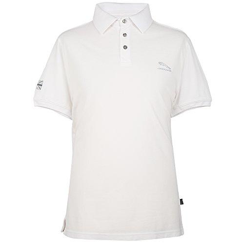 Jaguar Herren-Poloshirt Springer Logo 3XL weiß