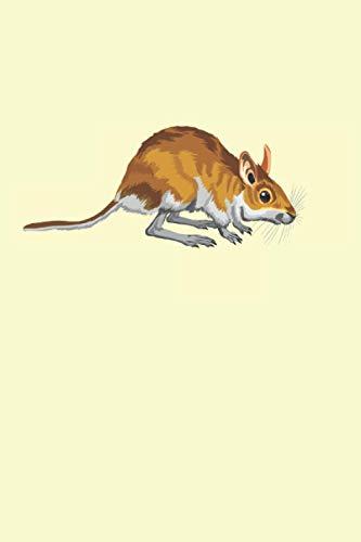 Pequeño ratón: Lindo cuaderno forrado de regalos de animales roedores australianos (formato A5, 15, 24 x 22, 86 cm, 120 páginas)