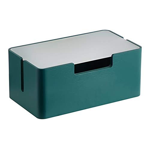 Multifunción Caja de almacenamiento de enchufe de enrutador aislado de almacenamiento de doble capa Caja de almacenamiento de enchufe de enchufe no engranado ( Color : GREEN , Size : 28*16*12CM )