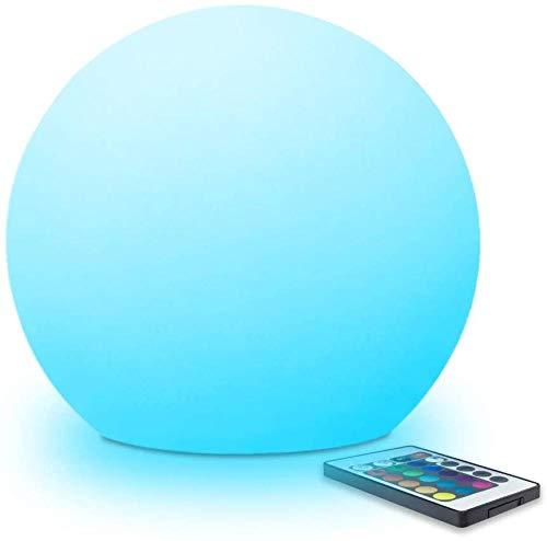 Wangshengchao Luz de Esfera de Bola LED de 25 cm con Control Remoto Cambio de Color RGB 16 Colores de luz Recargables-Los 25 * 25 * 23cm