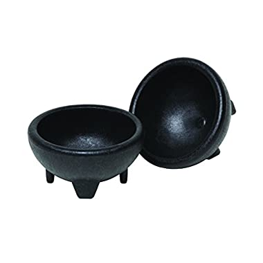 Origins Mexican Origins 120-25 Molcajete Salsa Bowls, Black, Set of 2