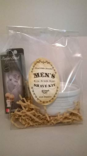 Handmade Men's Shave Soap with Brush & Bowl
