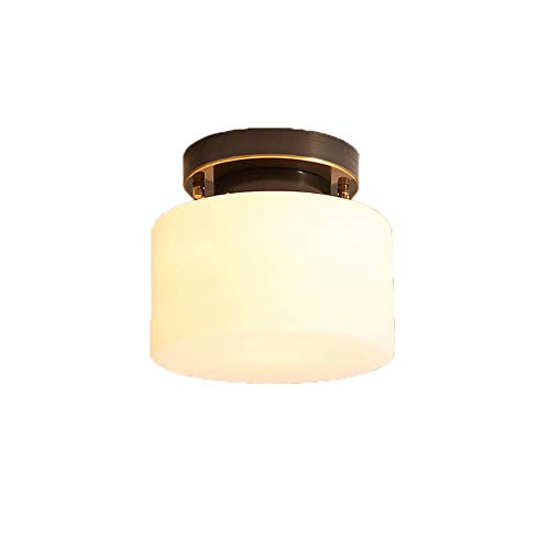 Luces Del Hogar, Moderno Techo Simple Luz Hecha a Mano Sombra de Vidrio Pendiente Luz Nórdica Balcón Lámpara de Techo Entrada Cocina Rústico Cobre Colgando Lámpara