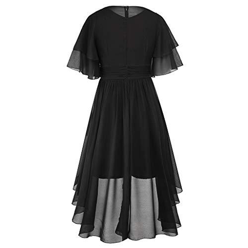 NINGNETI Vestidos Casual Grande Verano Mujer Largos De Fiesta Cortos D